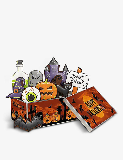 BISCUITEERS: Haunted House chocolate biscuits box of nine
