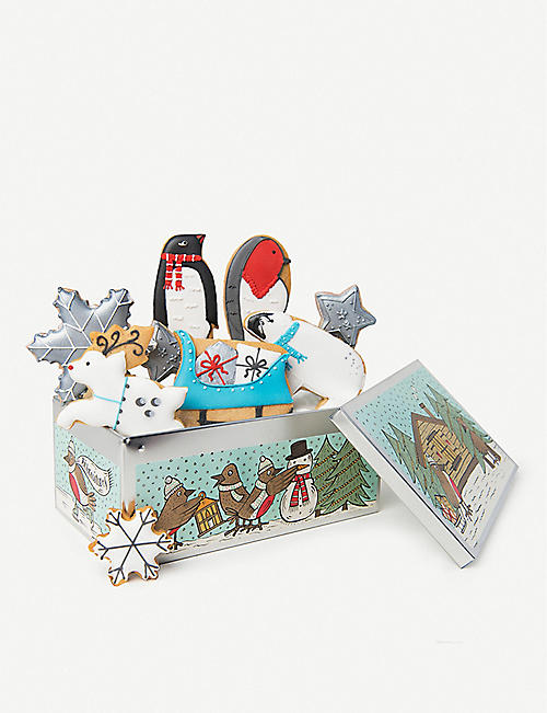 BISCUITEERS Winter Wonderland Christmas biscuits box of nine