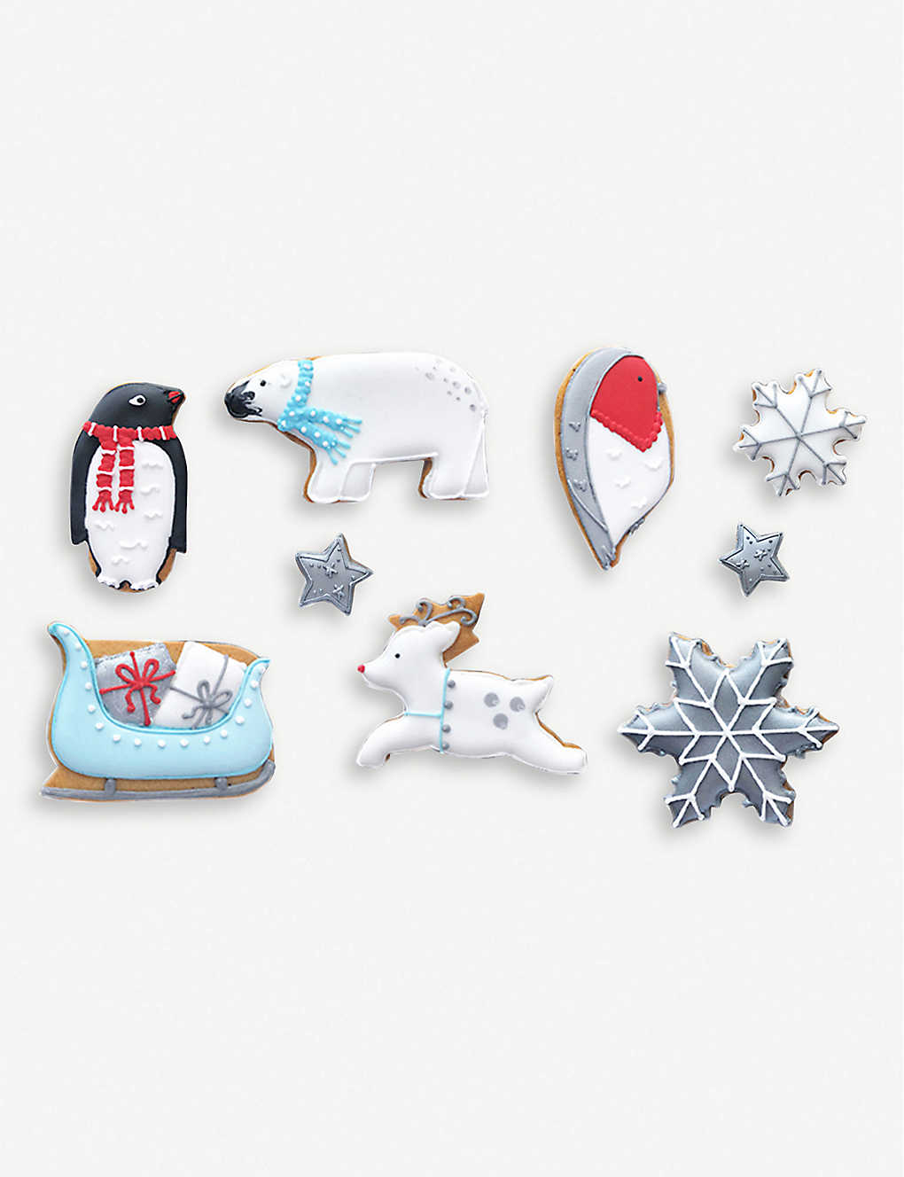 BISCUITEERS: Winter Wonderland Christmas biscuits box of nine