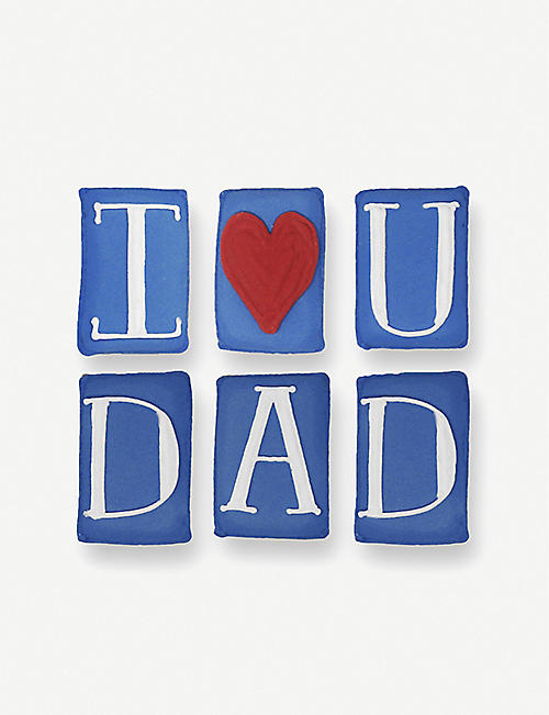 BISCUITEERS: I Love You Dad ginger biscuit card 15g