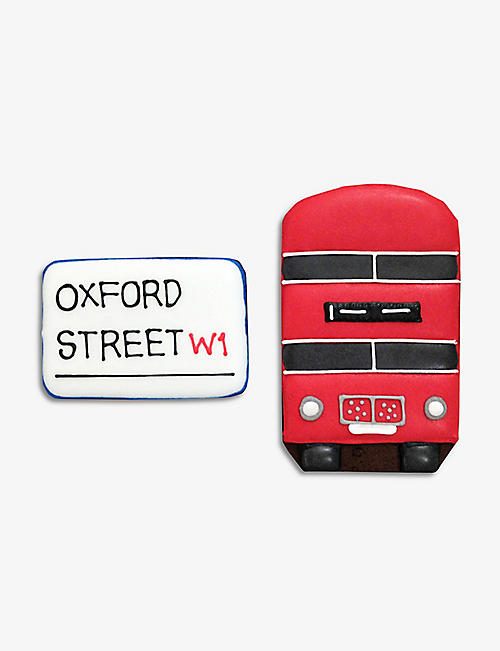BISCUITEERS: Oxford Street Bond Street biscuit card 15g