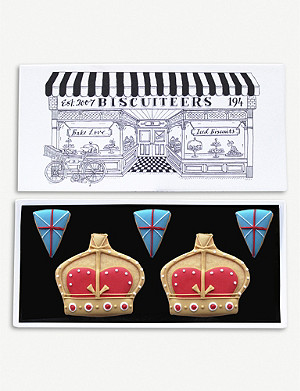 BISCUITEERS Royal Crown letterbox biscuits box of five