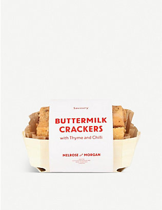MELROSE & MORGAN: Thyme and chilli buttermilk crackers 150g