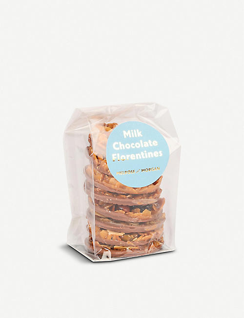 MELROSE & MORGAN: Milk Chocolate Florentines 150g