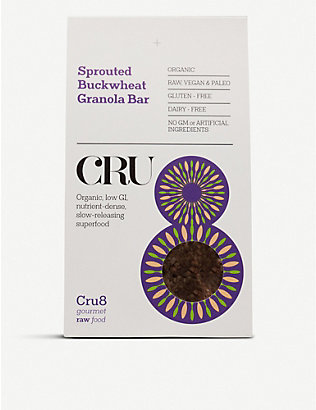CRU8: Sprouted buckwheat granola bars 200g