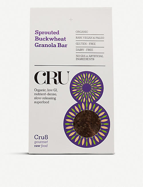 CRU8 Sprouted buckwheat granola bars 200g