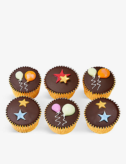 FIONA CAIRNS: Balloon and Stars chocolate fairy cakes box 320g
