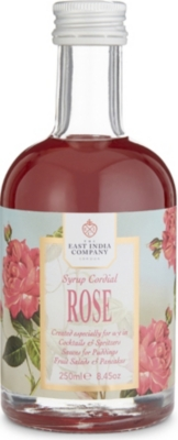THE EAST INDIA COMPANY Rose syrup cordial 250ml