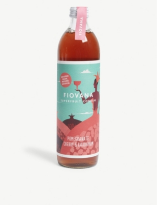 FIOVANA Pomegranate, cherry and cardamom superfruit cordial 500ml