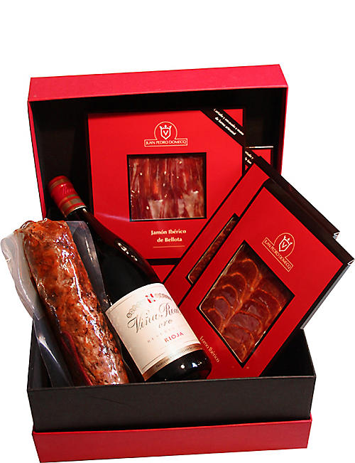 DOMECQ Traditional Ham and Red wine hamper
