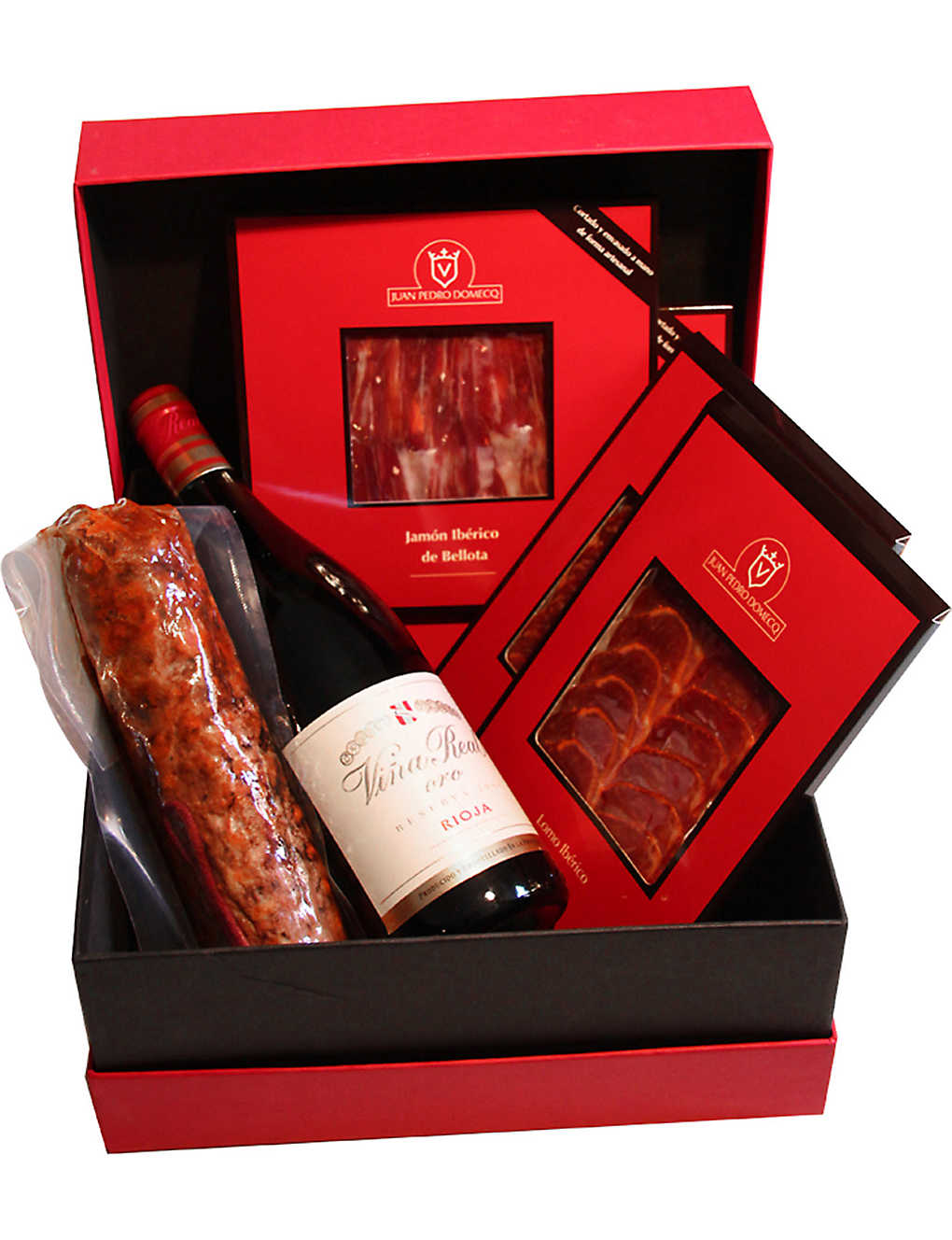 DOMECQ: Traditional Ham and Red wine hamper