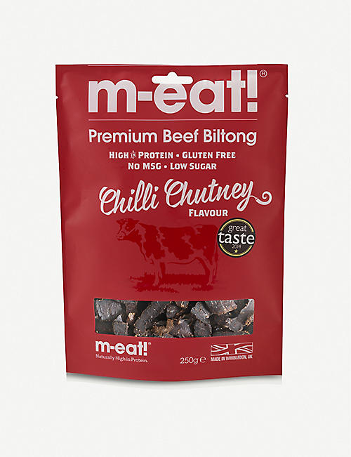 SAVANNA M-EAT BUTCHERY Chilli chutney beef biltong 250g