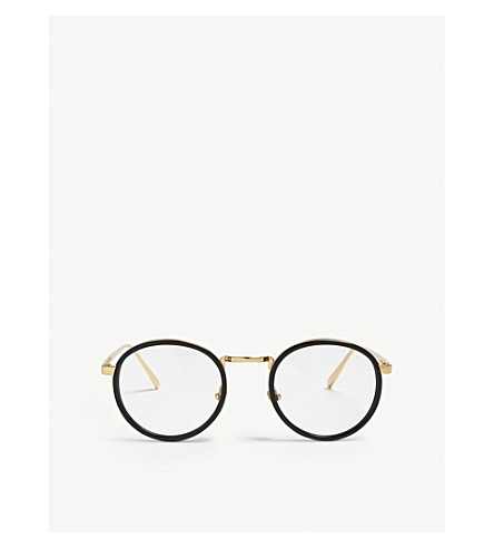 b91fa56c68c LINDA FARROW LFL182 oval-frame glasses (Yellow+gold
