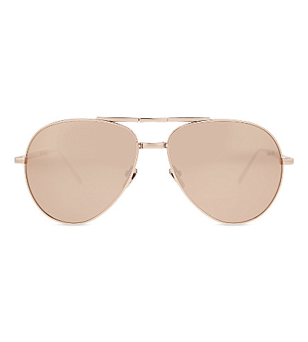 72a7ee4328a LINDA FARROW Lfl518 C3 Aviator sunglasses (Rose+gold