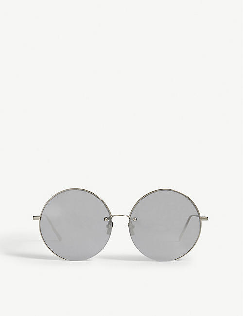 12eeb341027b LINDA FARROW LFL626 round-frame sunglasses