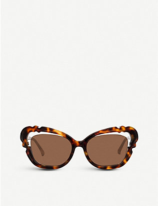 LINDA FARROW: LFL824 oversized cat eye-frame sunglasses
