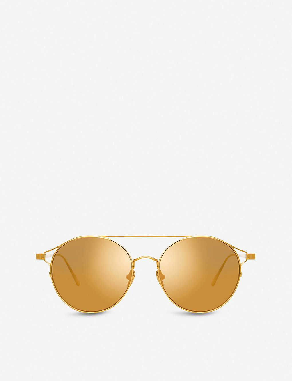 236b806a5c LINDA FARROW - 426 C1 gold-plated aviator sunglasses