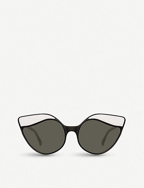 LINDA FARROW: 871 C1 acetate sunglasses