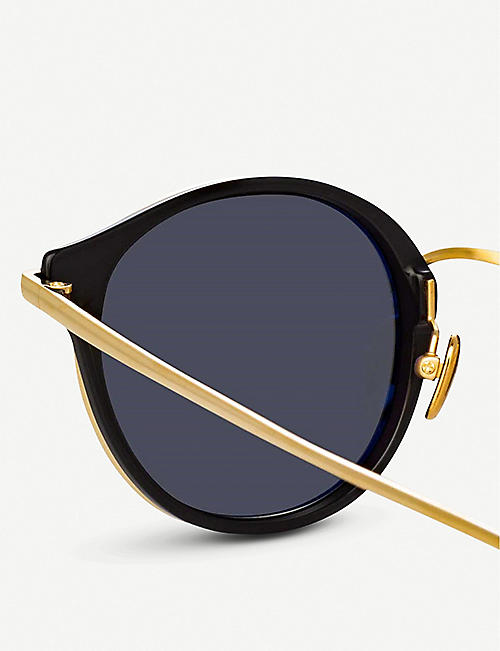 e7532766c0 LINDA FARROW 911 C1 acetate and yellow-gold plated titanium sunglasses ·  Quick Shop