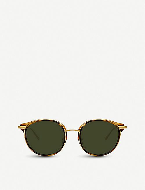 2870c5cf878 LINDA FARROW 911 C2 tortoiseshell acetate and yellow-gold plated titanium  sunglasses