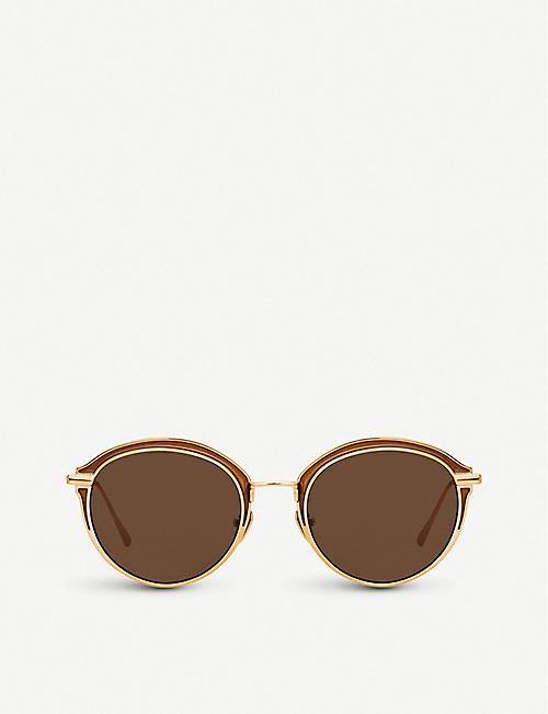 0fc332ccffa LINDA FARROW 935 C7 titanium oval-frame sunglasses