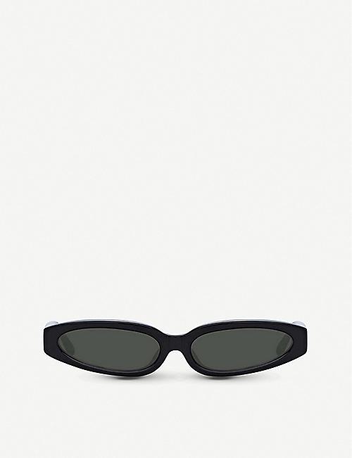 9484e00657 LINDA FARROW - 960 C1 acetate angular-frame sunglasses