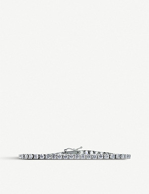 CARAT LONDON Tennis 9ct white-gold bracelet