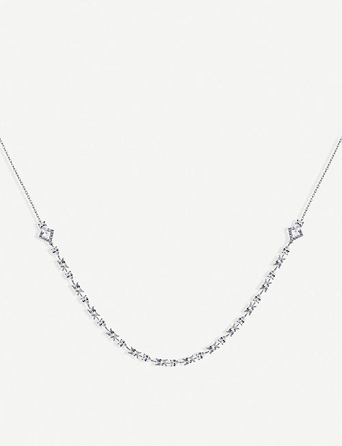 CARAT LONDON Madison sterling silver necklace