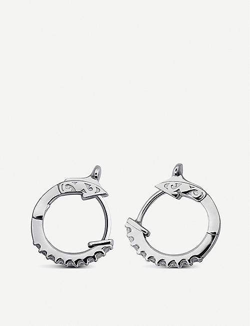 CARAT LONDON Baby sterling silver and micropavé hoops