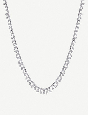 CARAT LONDON Taini sterling silver and gemstone necklace