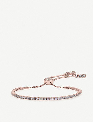 CARAT LONDON Lexi Millennium rose gold and solitaire bracelet