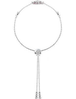 CARAT LONDON Camelia white gold-plated bracelet