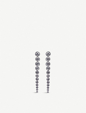 CARAT LONDON Quentin sterling silver and gemstone drop earrings