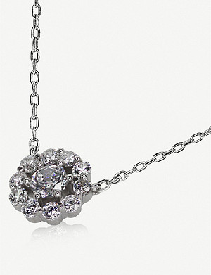CARAT LONDON Flora sterling silver pendant necklace