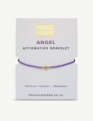 PSYCHIC SISTERS Angel silk, gold-plated and gemstone bracelet