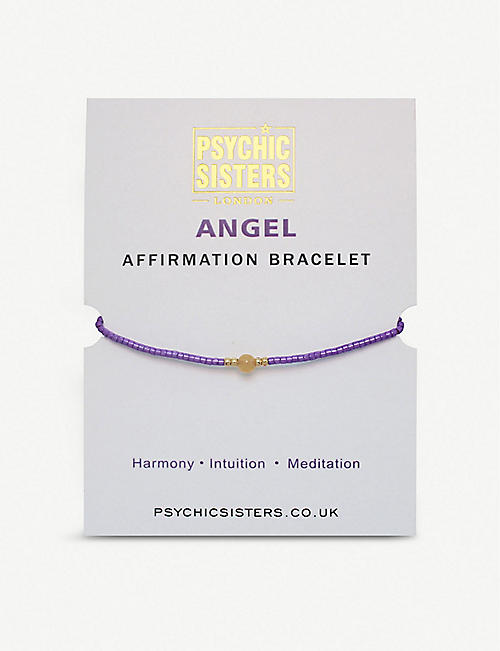 PSYCHIC SISTERS: Angel silk, gold-plated and gemstone bracelet