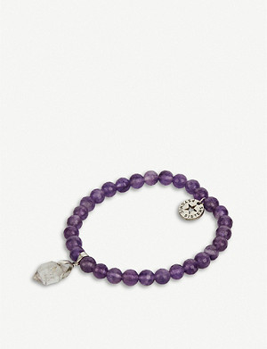 PSYCHIC SISTERS Herkimer diamond and amethyst bracelet