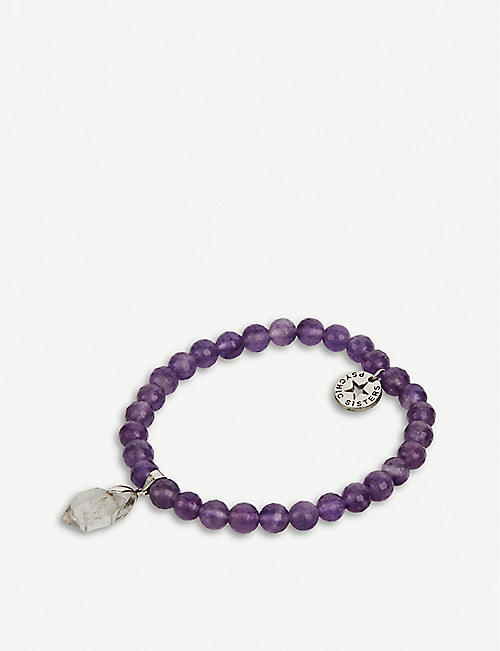 PSYCHIC SISTERS: Herkimer diamond and amethyst bracelet
