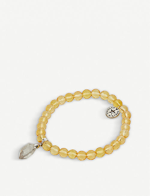 PSYCHIC SISTERS: Herkimer diamond and citrine bracelet