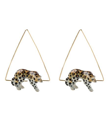 Le Mini-boucles D'oreilles De Bijoux En Porcelaine De Chat calB440n