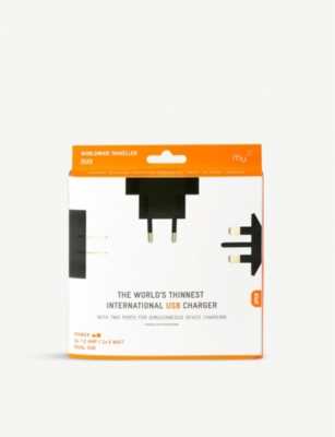THE CONRAN SHOP Mu worldwide traveller duo USB charger
