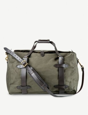 THE CONRAN SHOP Filson twill and leather duffle bag