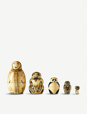 THE CONRAN SHOP COMPANY X SALAKAUPPA wooden bears matryoshka