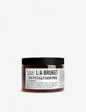 LA BRUKET L:A Bruket Wild Rose sea salt scrub 450ml