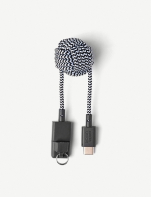 THE CONRAN SHOP Key USB A to USB C cable zebra