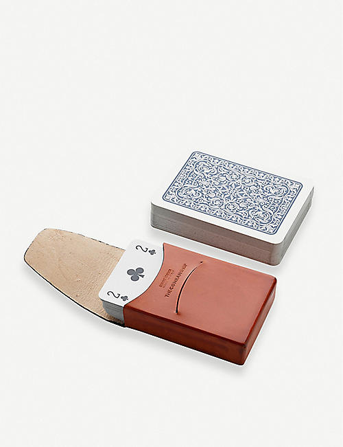 THE CONRAN SHOP: Leather playing card pouch