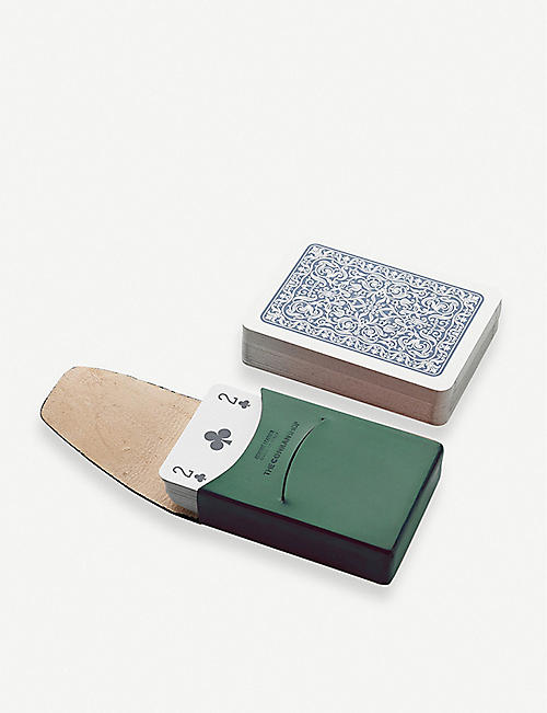 THE CONRAN SHOP Leather playing card pouch
