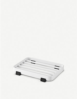 THE CONRAN SHOP: Tower stainless steel soap dish 11cm x 7.5cm