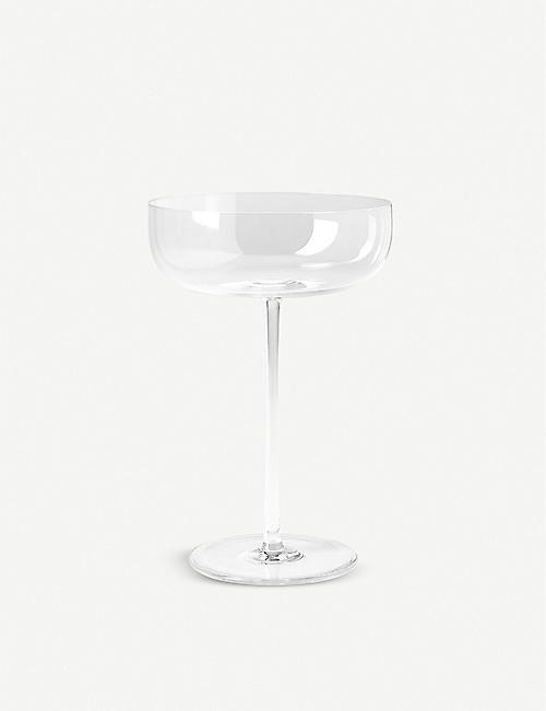 THE CONRAN SHOP: Cassini recycled-glass champagne saucer 16cm
