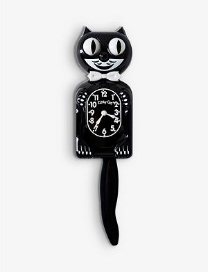 THE CONRAN SHOP California Clock Company Classic Black Kit-Cat Clock
